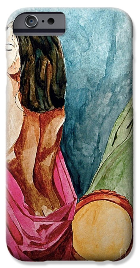 Nudes Women IPhone 6 Case featuring the painting Morning Light by Herschel Fall