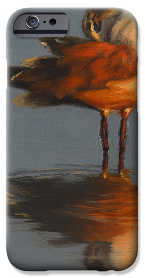 Bird IPhone 6 Case featuring the painting Morning Reflection by Greg Neal