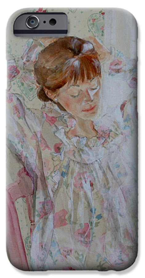 Morning IPhone 6 Case featuring the painting Morning Ritual by Jean Blackmer