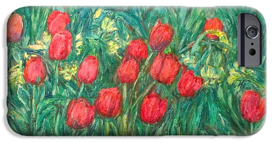 Kendall Kessler IPhone 6 Case featuring the painting Mostly Tulips by Kendall Kessler