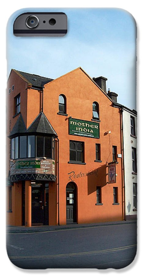 Ireland IPhone 6 Case featuring the photograph Mother India Restaurant Athlone Ireland by Teresa Mucha