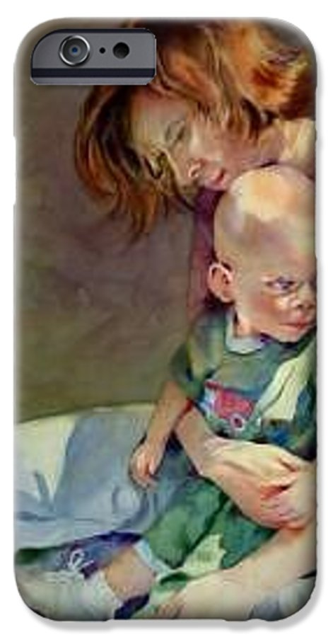 Mother And Child IPhone 6 Case featuring the painting Mother Love by Marlene Gremillion