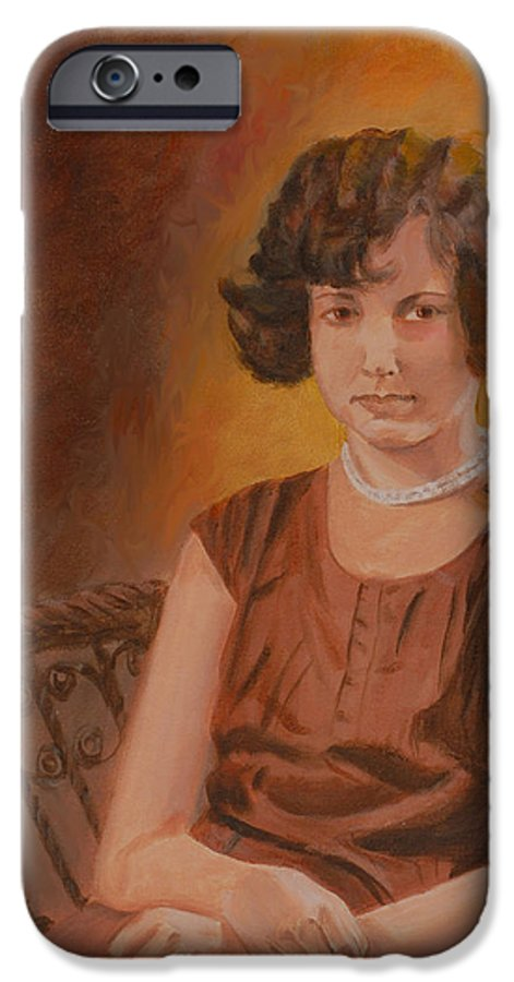 Woman IPhone 6 Case featuring the painting Mother by Quwatha Valentine