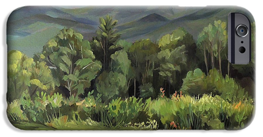 White Mountain Paintngs IPhone 6 Case featuring the painting Mount Lafayette From Sugar Hill New Hampshire by Nancy Griswold