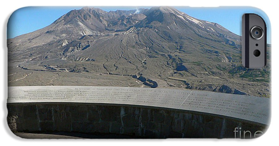 Volcano IPhone 6 Case featuring the photograph Mount St. Helen Memorial by Larry Keahey