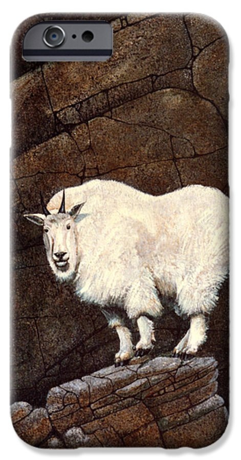 Wildlife IPhone 6 Case featuring the painting Mountain Goat by Frank Wilson