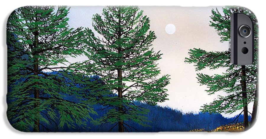IPhone 6 Case featuring the painting Mountain Pines by Frank Wilson