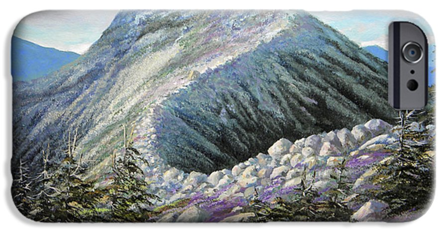 Landscape IPhone 6 Case featuring the painting Mountain Ridge by Frank Wilson