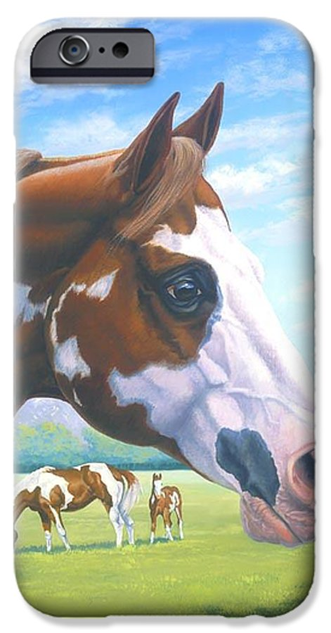Paint Horse IPhone 6 Case featuring the painting Mr. Norfleets Legacy by Howard Dubois