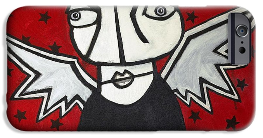 Clay IPhone 6 Case featuring the painting Mr.creepy by Thomas Valentine