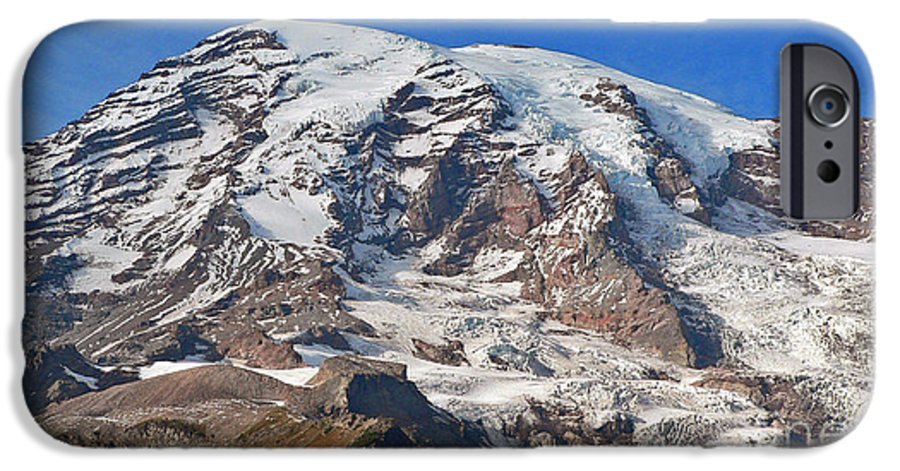 Mountains IPhone 6 Case featuring the photograph Mt. Rainier In The Fall by Larry Keahey