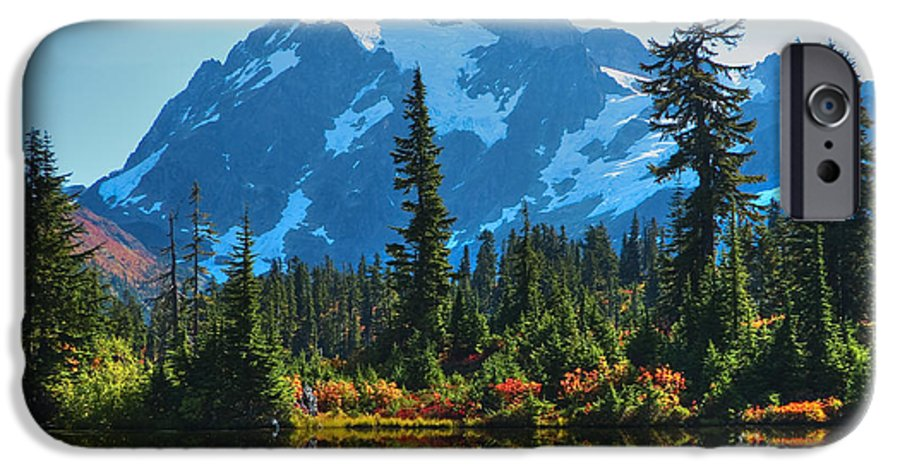 Mt. Shuksan IPhone 6 Case featuring the photograph Mt. Shuksan by Idaho Scenic Images Linda Lantzy
