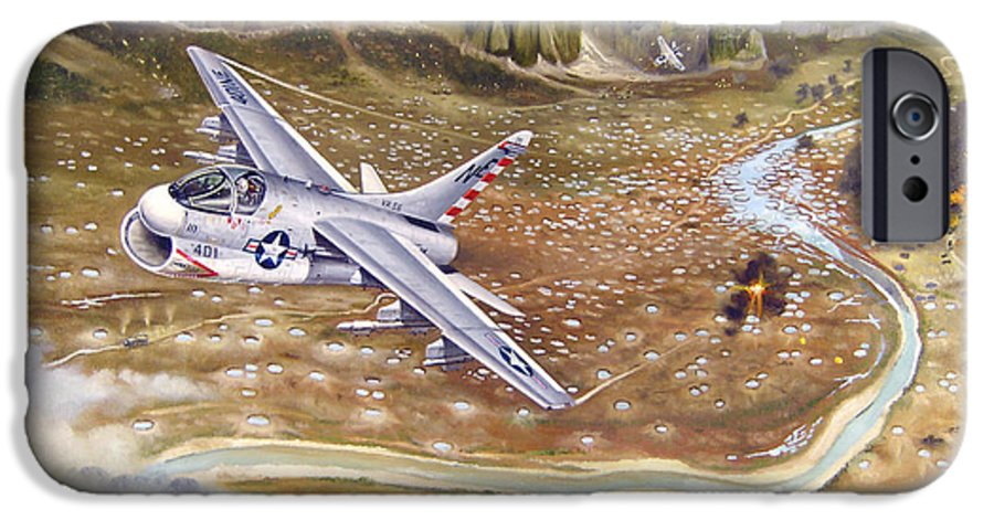 Aviation IPhone 6 Case featuring the painting Mu Gia Mayhem by Marc Stewart
