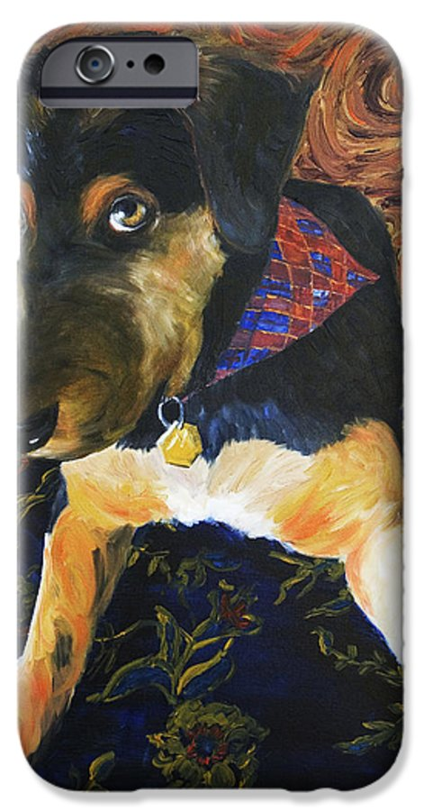 Dog IPhone 6 Case featuring the painting Murphy I by Nik Helbig