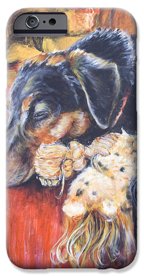 Dog IPhone 6 Case featuring the painting Murphy Viii by Nik Helbig