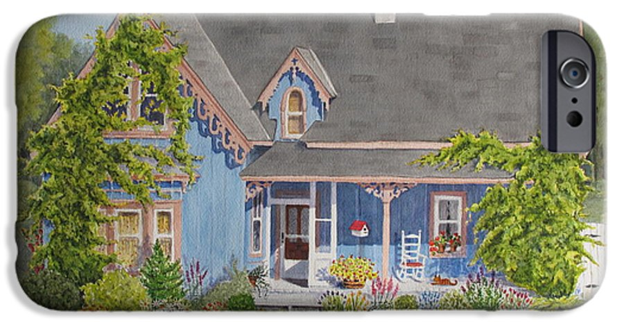 House IPhone 6 Case featuring the painting My Blue Heaven by Mary Ellen Mueller Legault