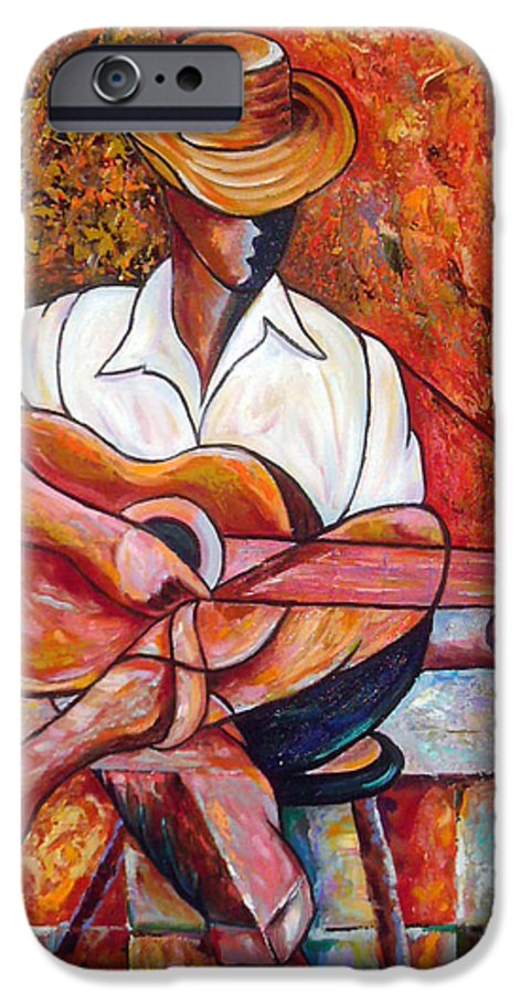 Cuba Art IPhone 6 Case featuring the painting My Guitar by Jose Manuel Abraham