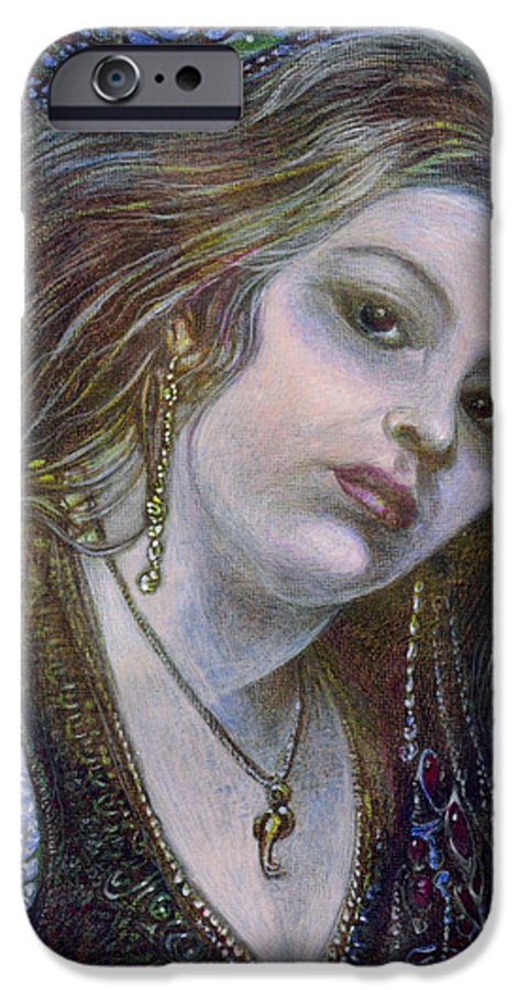 Fantasy IPhone 6 Case featuring the painting My Mermaid Christan by Otto Rapp
