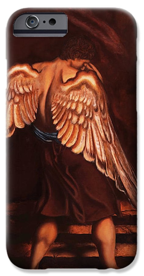 Giorgio IPhone 6 Case featuring the painting My Soul Seeks For What My Heart Lost by Giorgio Tuscani