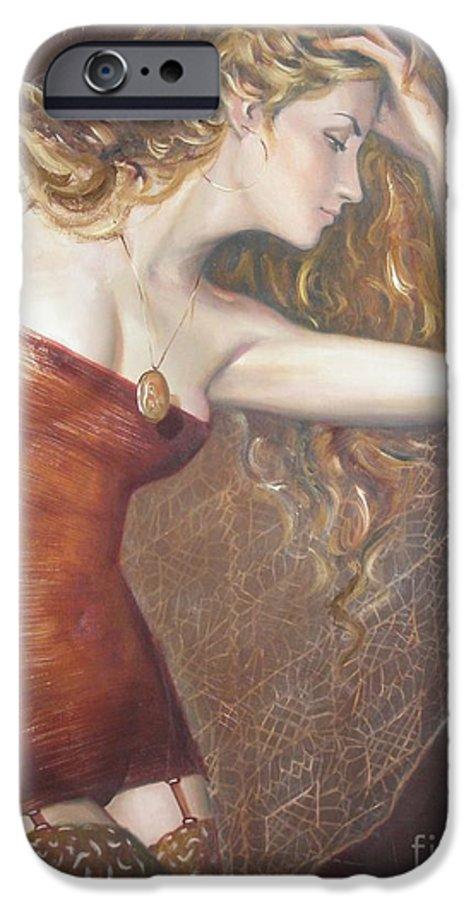 Ignatenko IPhone 6 Case featuring the painting My Talisman by Sergey Ignatenko