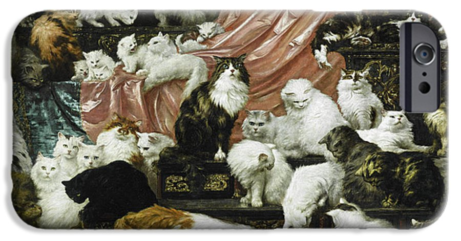Carl Kahler IPhone 6 Case featuring the painting My Wife's Lovers by Carl Kahler