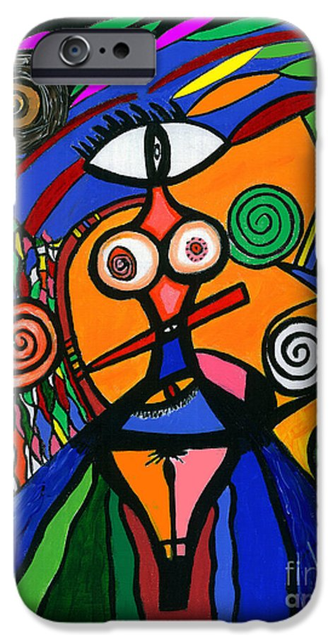 Feelings IPhone 6 Case featuring the painting My Woman by Safak Tulga