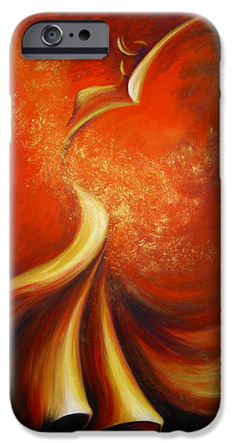 Figure Study IPhone 6 Case featuring the painting Mystery Dance by Dina Dargo