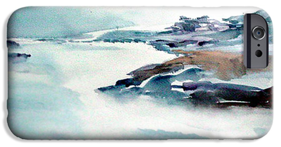 River IPhone 6 Case featuring the painting Mystic River by Anil Nene