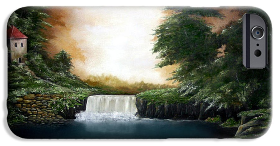 Falls IPhone 6 Case featuring the painting Mystical Falls by Ruben Flanagan