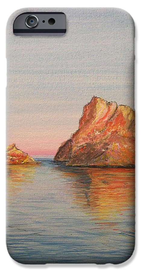 Island IPhone 6 Case featuring the painting Mystical Island Es Vedra by Lizzy Forrester