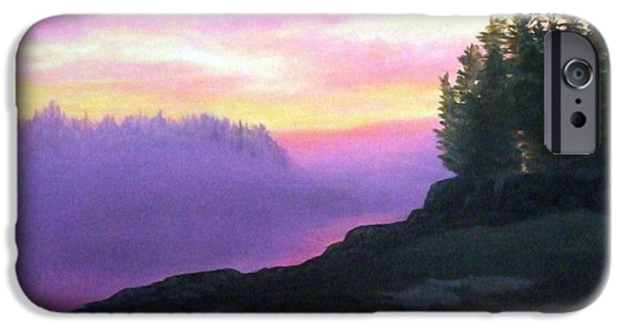 Sunset IPhone 6 Case featuring the painting Mystical Sunset by Sharon E Allen