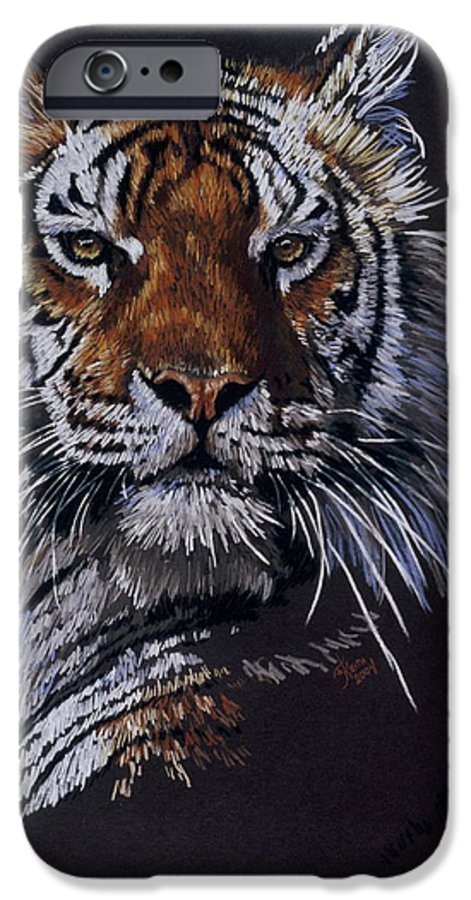 Tiger IPhone 6 Case featuring the drawing Nakita by Barbara Keith