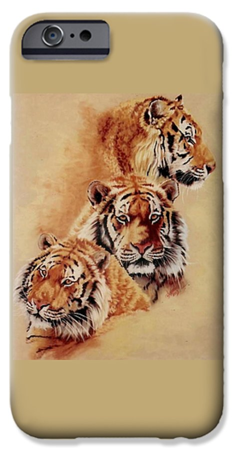 Tiger IPhone 6 Case featuring the pastel Nanook by Barbara Keith