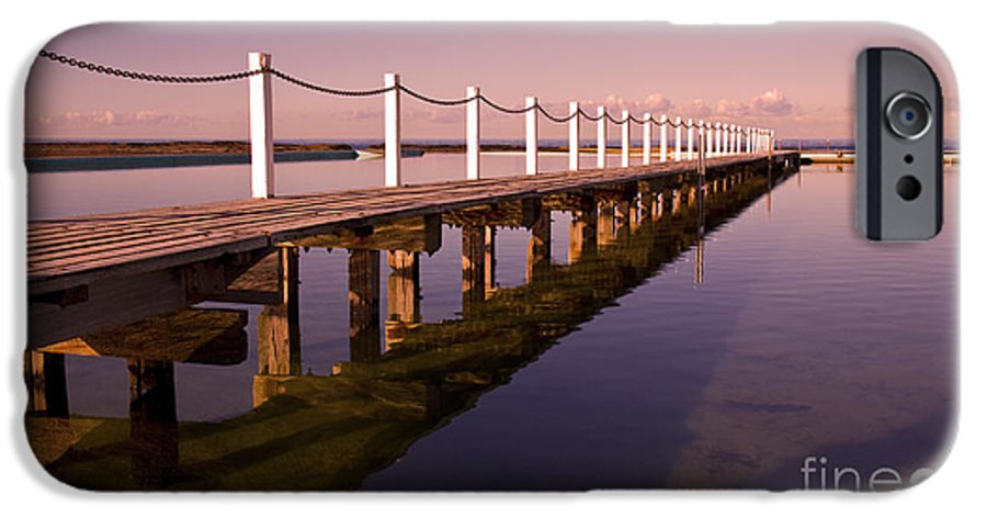 Narrabeen Sydney Sunrise Wharf Walkway IPhone 6 Case featuring the photograph Narrabeen Sunrise by Avalon Fine Art Photography