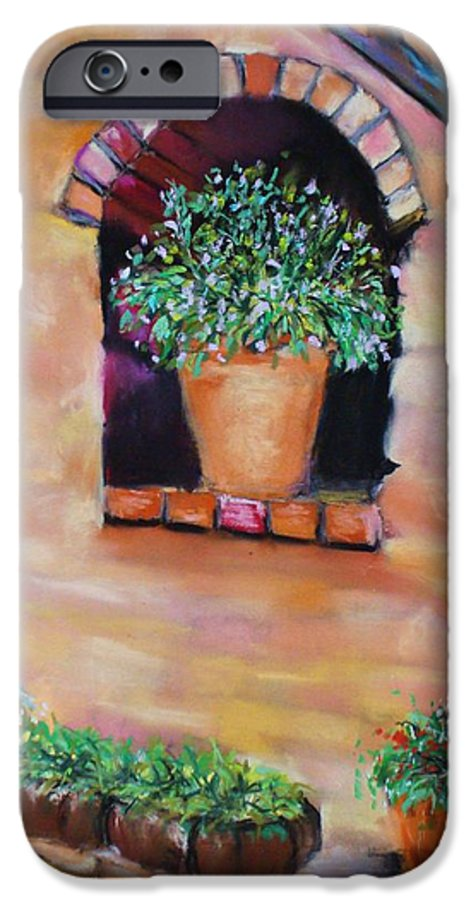 Courtyard IPhone 6 Case featuring the painting Nash's Courtyard by Melinda Etzold