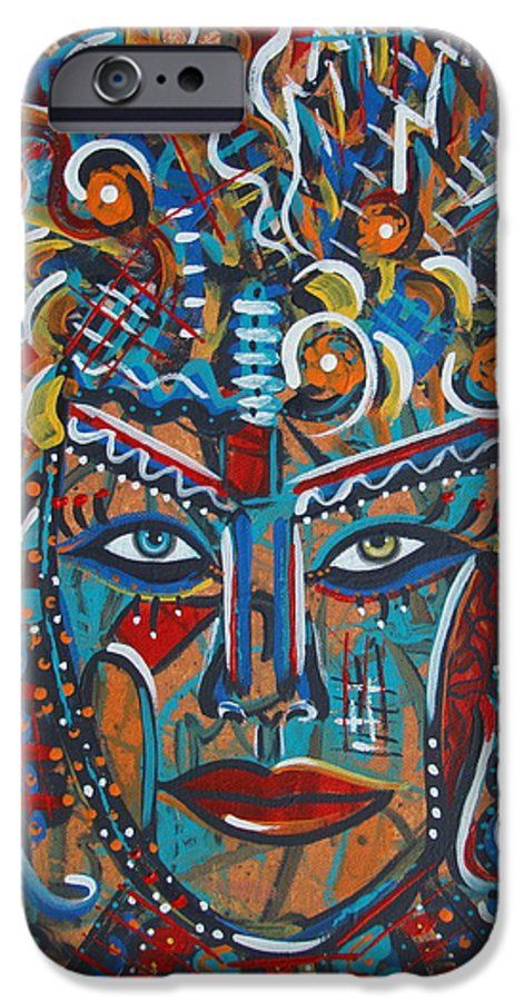 Abstract IPhone 6 Case featuring the painting Nataliana by Natalie Holland