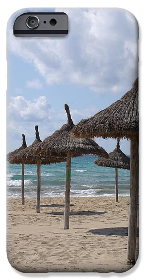 Beach IPhone 6 Case featuring the photograph Natural Umbrella by Chad Natti