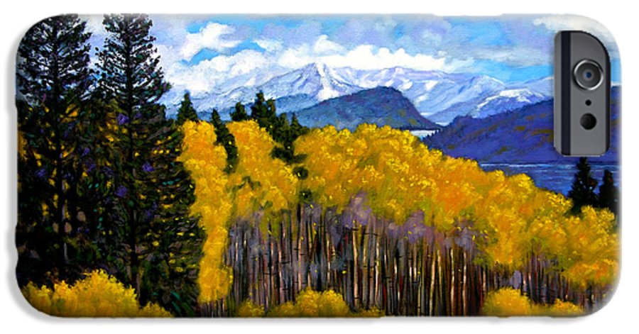 Fall IPhone 6 Case featuring the painting Natures Patterns - Rocky Mountains by John Lautermilch