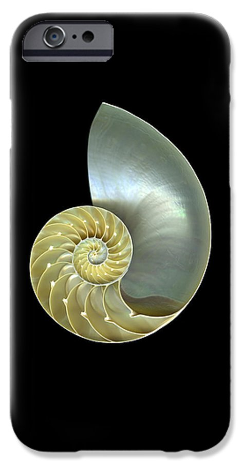 Slanec IPhone 6 Case featuring the photograph Nautilus Nr.1 by Christian Slanec