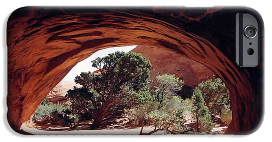 Utah IPhone 6 Case featuring the photograph Navajo Arch by Kathy Schumann
