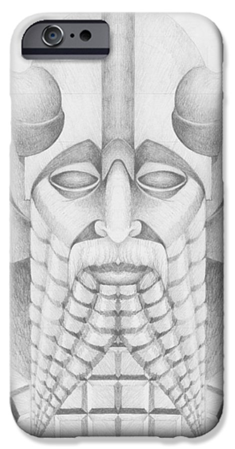 Babylonian IPhone 6 Case featuring the drawing Nebuchadezzar by Curtiss Shaffer
