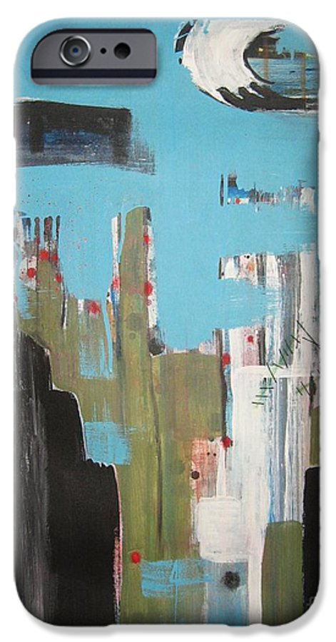 Abstract Paintings IPhone 6 Case featuring the painting Neglected Area by Seon-Jeong Kim