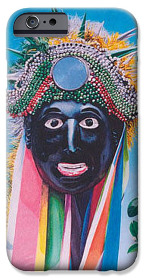Michael Earney IPhone 6 Case featuring the painting Negrito Y Flor De Limon by Michael Earney