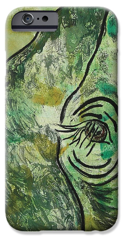 Monotype IPhone 6 Case featuring the mixed media Never Forgotten by Cori Solomon