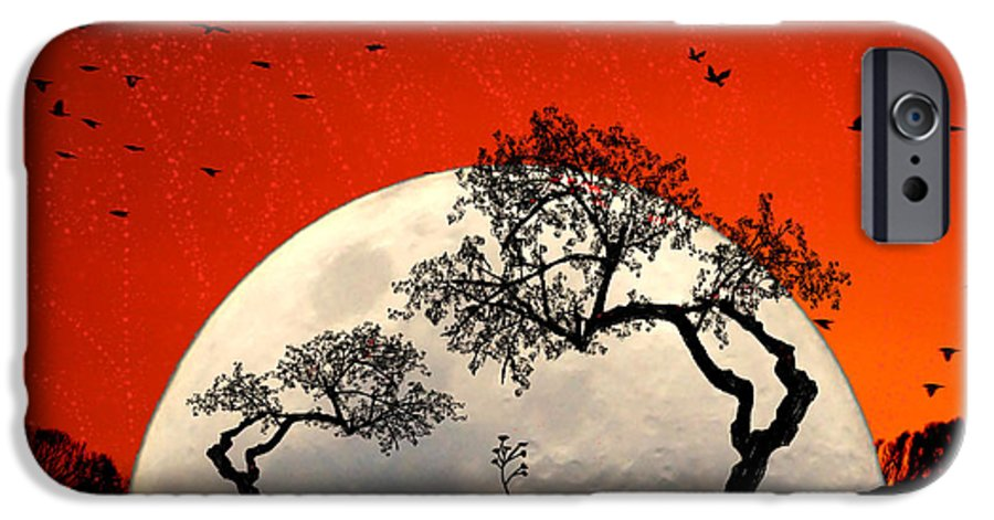 Moon IPhone 6 Case featuring the digital art New Growth New Hope by Holly Kempe