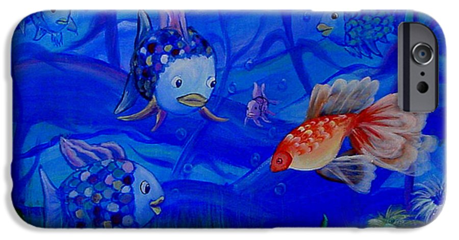 Fish IPhone 6 Case featuring the painting New Kid In Town by Quwatha Valentine