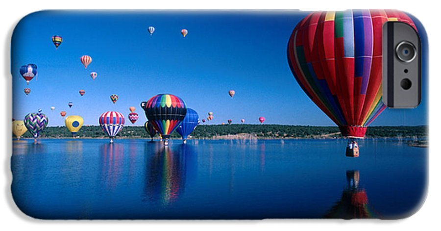 Hot Air Balloon IPhone 6 Case featuring the photograph New Mexico Hot Air Balloons by Jerry McElroy