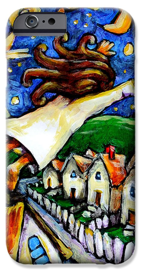 Children IPhone 6 Case featuring the painting Night Fall by Chad Elliott