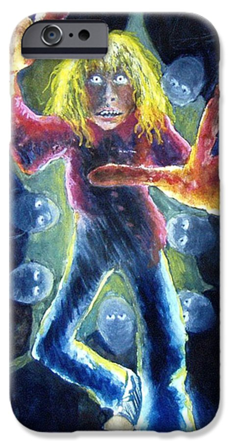 Nightmare IPhone 6 Case featuring the painting Nightmare by Nancy Mueller