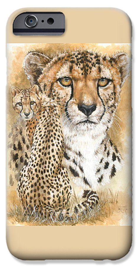 Cheetah IPhone 6 Case featuring the mixed media Nimble by Barbara Keith